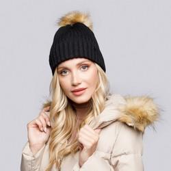 Winter's winter hat with pom pom, black, 93-HF-013-1, Photo 1
