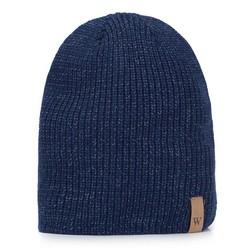 Men's winter beanie hat, navy blue, 93-HF-015-7, Photo 1