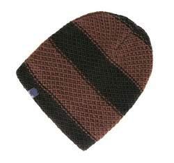 Czapka męska, brązowo - czarny, 83-HF-019-14, Zdjęcie 1