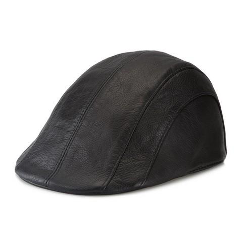 Czapka męska, czarny, 79-H-001-1G-58, Zdjęcie 1