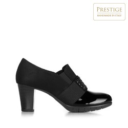 Block heel court shoes with decorative detail, black, 92-D-652-1-37, Photo 1