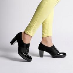 Block heel court shoes with decorative detail, black, 92-D-652-1-37, Photo 1