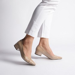 Shoes, beige - silver, 92-D-953-8-41, Photo 1