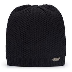 Women's beanie hat, black, 93-HF-007-1, Photo 1