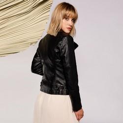 Damska kurtka o klasycznym kroju, czarny, 92-9P-103-1-XS, Zdjęcie 1