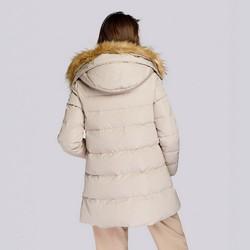 Damska kurtka puchowa z kapturem, beżowy, 93-9D-402-9-M, Zdjęcie 1