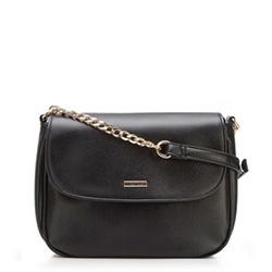 Faux leather chain bag, black, 92-4Y-305-10, Photo 1