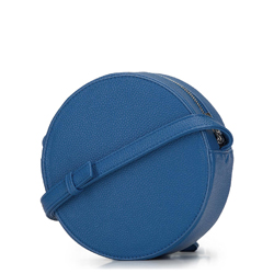 Damska listonoszka okrągła, niebieski, 92-4Y-302-7, Zdjęcie 1