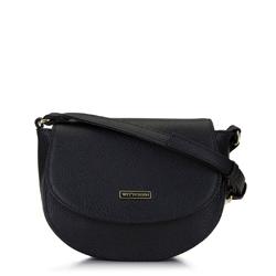 Damska listonoszka saddle bag, czarny, 92-4Y-223-1, Zdjęcie 1