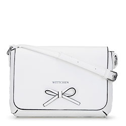 Women's flap bag with bow detail, white, 92-4Y-562-0, Photo 1
