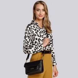 Shoulder bag with faux leather, black, 93-4Y-908-1, Photo 1