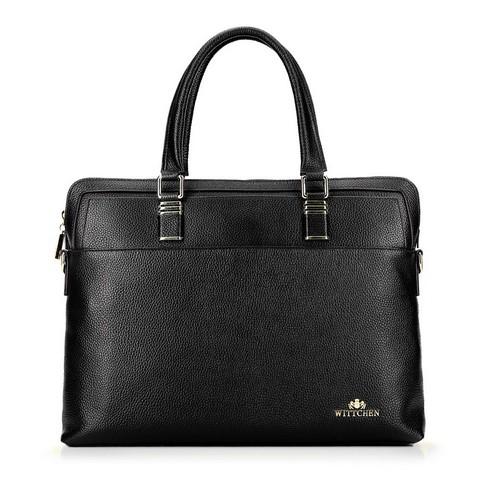 Damska torba na laptopa skórzana elegancka, czarny, 92-4E-637-1, Zdjęcie 1