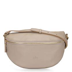 Damska torba nerka ze skóry, beżowy, 16-3-007-9, Zdjęcie 1