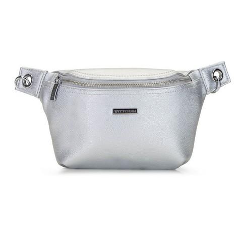 Damska torebka nerka metaliczna, srebrny, 92-4Y-228-G, Zdjęcie 1