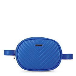Damska torebka nerka owalna pikowana, niebieski, 92-4Y-574-7, Zdjęcie 1