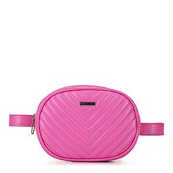 Damska torebka nerka owalna pikowana, różowy, 92-4Y-574-P, Zdjęcie 1