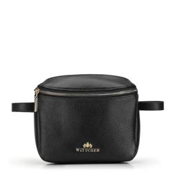 Damska torebka nerka skórzana prostokątna, czarny, 92-4E-655-1, Zdjęcie 1