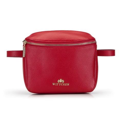 Damska torebka nerka skórzana prostokątna, czerwony, 92-4E-655-0, Zdjęcie 1