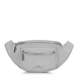 Damska torebka nerka skórzana z kieszonką, szary, 92-4E-634-8, Zdjęcie 1