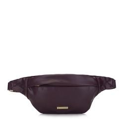 Damska torebka nerka ze skóry ekologicznej bez zdobień, fioletowy, 93-4Y-903-F, Zdjęcie 1
