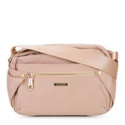 Damska torebka nylonowa, jasny beż, 92-4Y-101-9, Zdjęcie 1