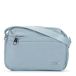 Damska torebka z nylonu, jasny niebieski, 92-4Y-110-7, Zdjęcie 1