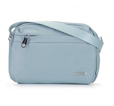 Damska torebka z nylonu, jasny niebieski, 92-4Y-110-P, Zdjęcie 1