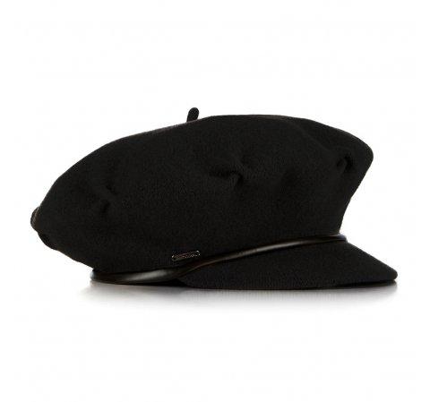 Women's wool beret, black, 91-HF-100-5, Photo 1