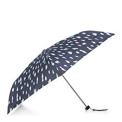 Damski parasol manualny mały, granatowo - miętowy, PA-7-168-X2, Zdjęcie 1