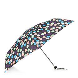 Damski parasol manualny mały, czarno - niebieski, PA-7-168-X3, Zdjęcie 1