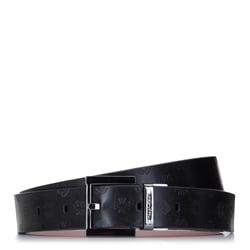 Damski pasek skórzany tłoczony w logo, czerwono - czarny, 92-8D-300-13-M, Zdjęcie 1