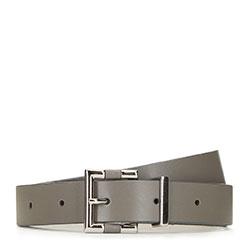 Damski pasek skórzany z nowoczesną klamerką, szary, 91-8D-303-8-XL, Zdjęcie 1