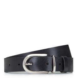 Women's leather belt, black, 92-8D-310-1-XL, Photo 1