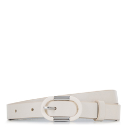 Skinny leather belt, off white, 92-8D-305-0-XL, Photo 1