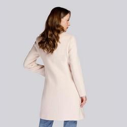 Damski płaszcz wełniany pudełkowy, złamany biały, 93-9W-702-0-M, Zdjęcie 1