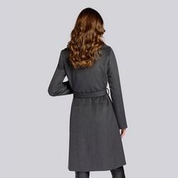 Damski płaszcz z wełną szlafrokowy, szary, 93-9W-701-8-M, Zdjęcie 1