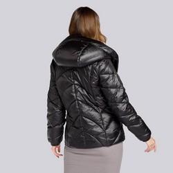Damska kurtka z nylonu pikowana w zygzaki, -, 93-9D-403-1-S, Zdjęcie 1