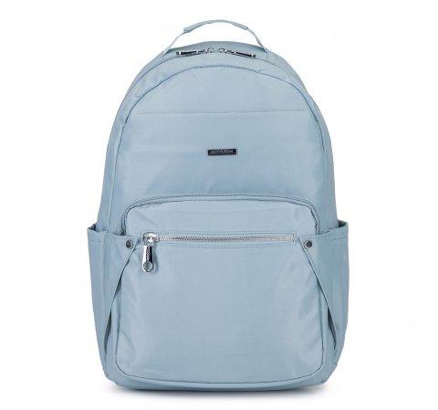 Damski plecak nylonowy, jasny niebieski, 92-4Y-100-1, Zdjęcie 1