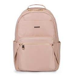 Damski plecak nylonowy, jasny beż, 92-4Y-100-9, Zdjęcie 1