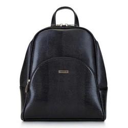 Damski plecak o zaokrąglonych liniach, czarno - złoty, 29-4Y-008-01, Zdjęcie 1