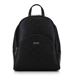 Damski plecak o zaokrąglonych liniach, czarny, 29-4Y-008-1E, Zdjęcie 1