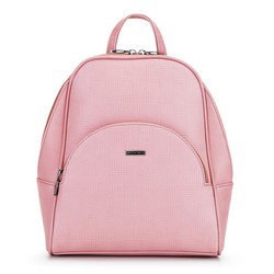Women's faux leather backpack, pink, 29-4Y-008-PE, Photo 1