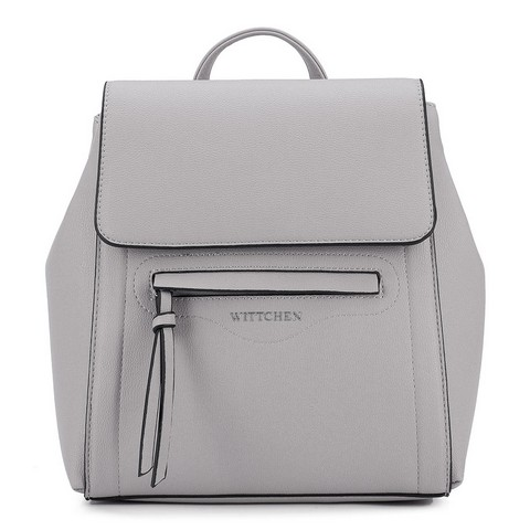 Damski plecak pudełkowy, szary, 92-4Y-555-8, Zdjęcie 1