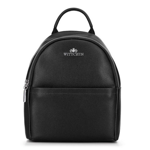 Damski plecak skórzany minimalistyczny, czarny, 92-4E-624-7, Zdjęcie 1