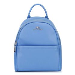 Damski plecak skórzany minimalistyczny, błękitny, 92-4E-624-7, Zdjęcie 1