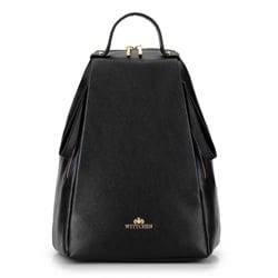 Damski plecak skórzany minimalistyczny, czarny, 92-4E-625-1, Zdjęcie 1