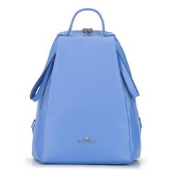 Damski plecak skórzany minimalistyczny, błękitny, 92-4E-625-7, Zdjęcie 1