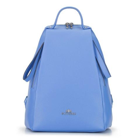 Damski plecak skórzany minimalistyczny, błękitny, 92-4E-625-8, Zdjęcie 1