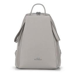 Damski plecak skórzany minimalistyczny, szary, 92-4E-625-8, Zdjęcie 1