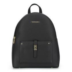 Damski plecak z kieszenią z przodu, czarno - złoty, 29-4Y-003-1G, Zdjęcie 1